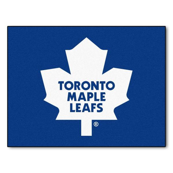 NHL Toronto Maple Leafs Blue 3 ft. x 4 ft. Indoor All Star Area Rug