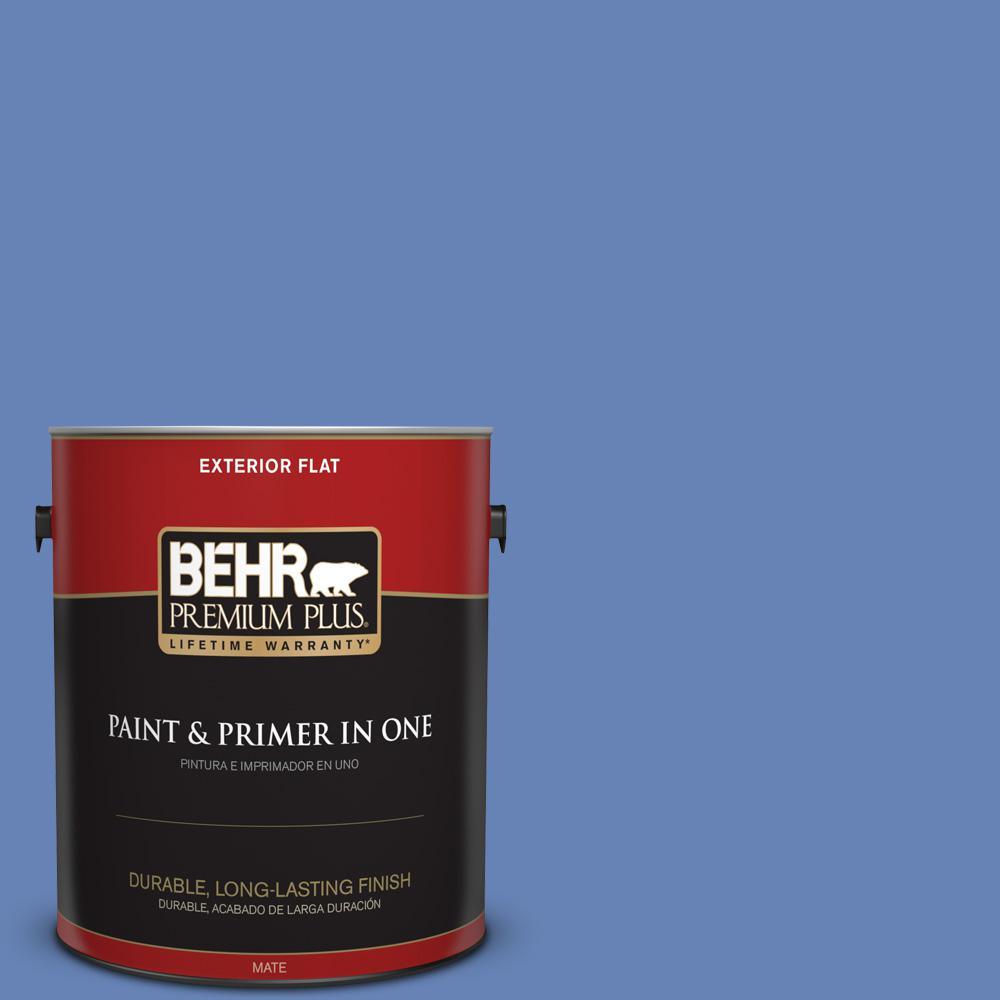 1 gal. #PPU15-06 Neon Blue Flat Exterior Paint