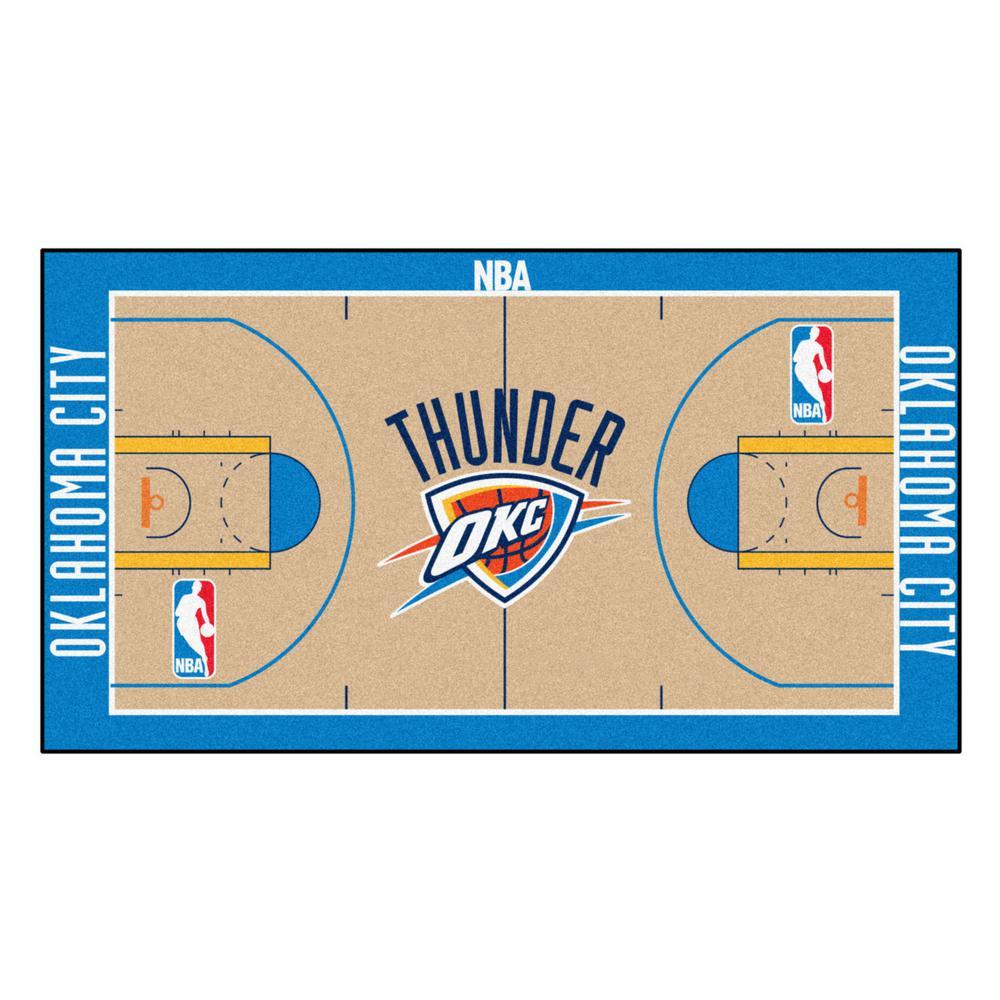 NBA Oklahoma City Thunder 3 ft. x 5 ft. Large Court Runner Rug