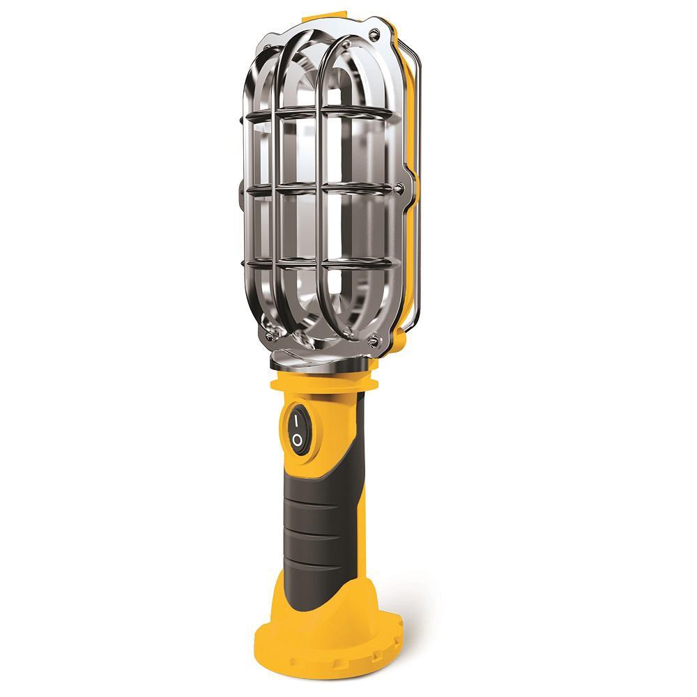 HANDY BRITE Ultra-Bright LED 8.35 in. Yellow Cordless Work Light Lamp