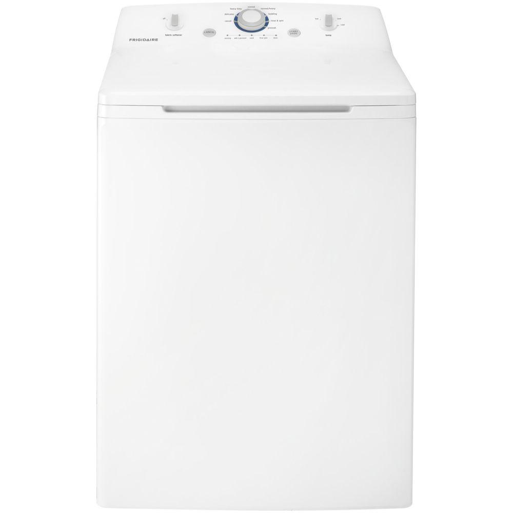 Frigidaire 3.4 cu. ft. Top Load Washer with Stainless Steel Tub in White