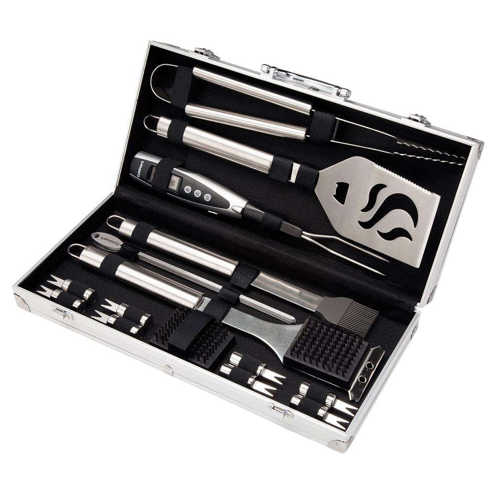 Cuisinart Deluxe Grilling Tool Set with Aluminum Storage Case(20-Piece)