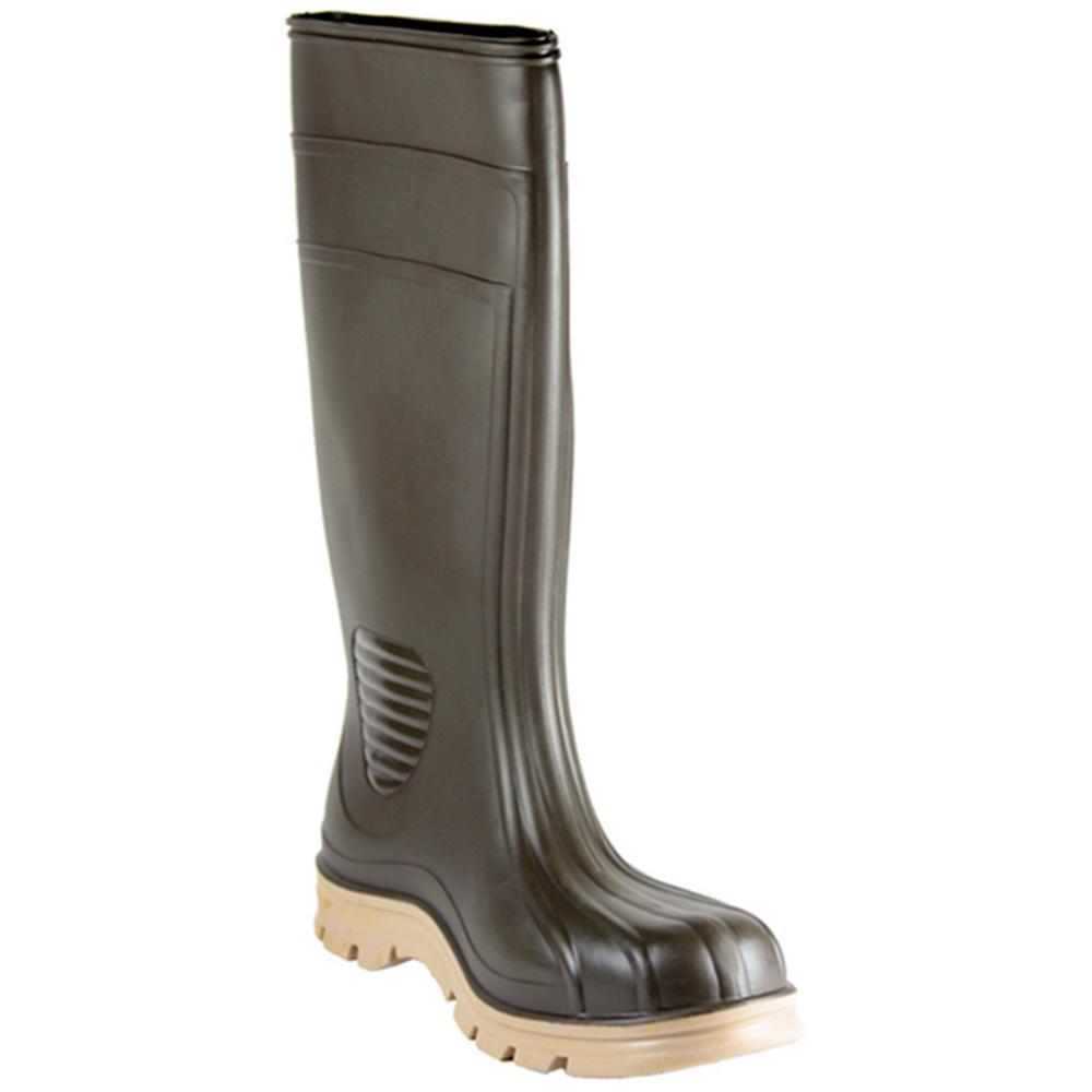 Men's Size 9 Brown Barnyard PVC Boot
