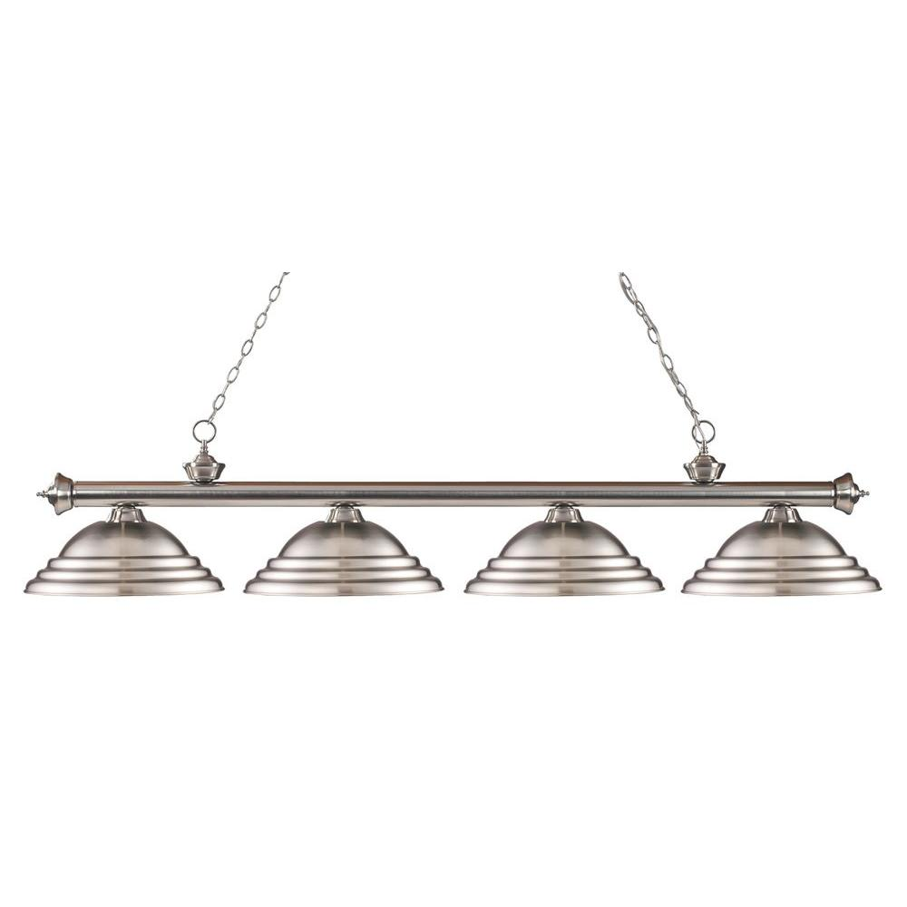 Coastal 4-Light Brushed Nickel Island Light