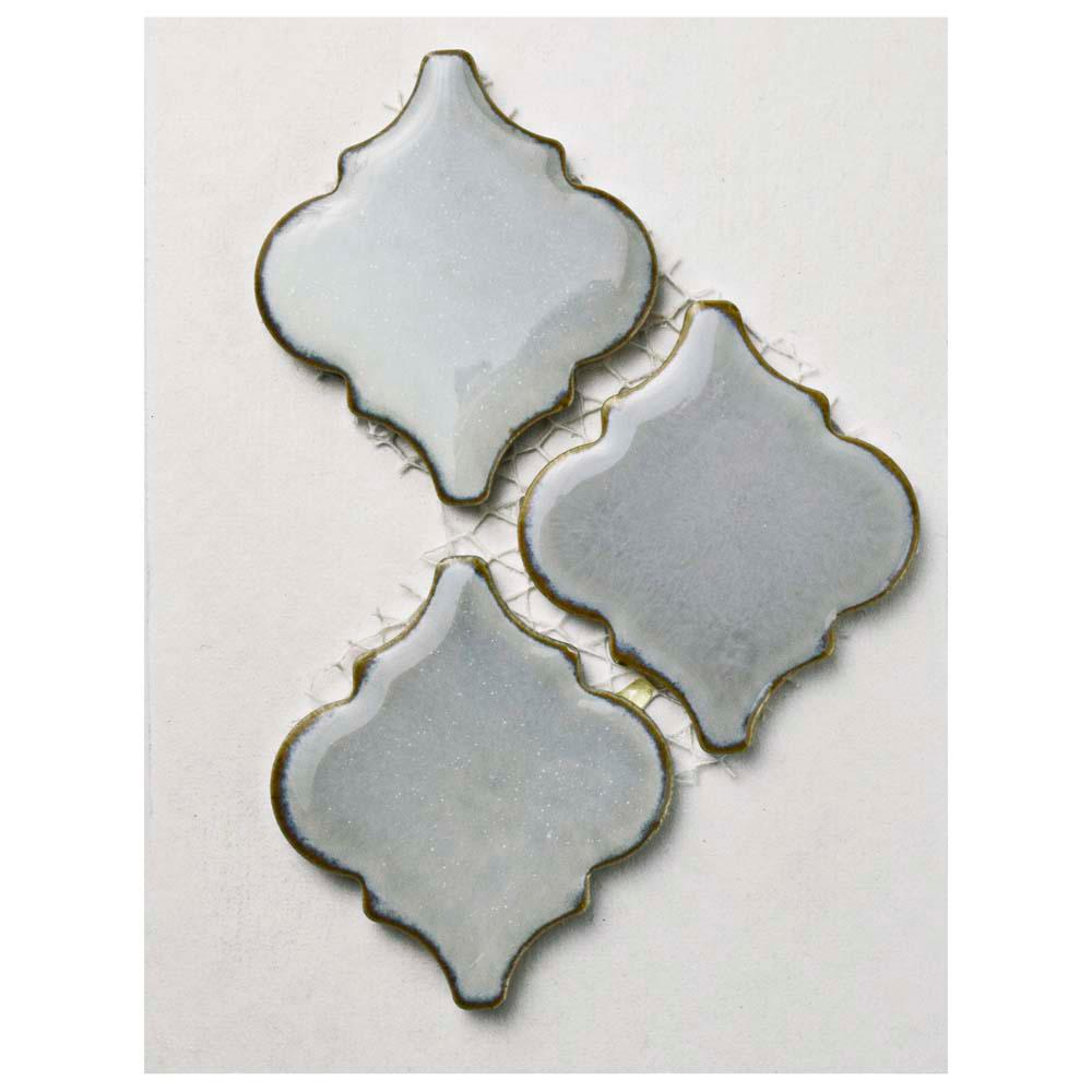 Hudson Tangier Grey Eye Porcelain Mosaic Tile - 3 in. x