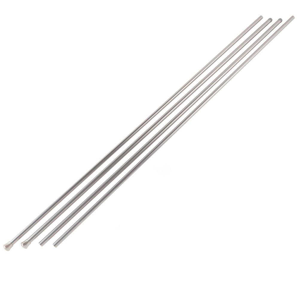 Topper 66 in. - 120 in. in. - Double Curtain Rod Satin Nickel