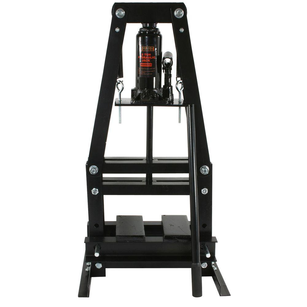 Black Bull 6 Ton A Frame Shop Press Pressa6t The Home Depot