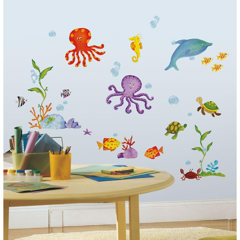 RoomMates Adventures Under the Sea Peel and Stick Wall Decal