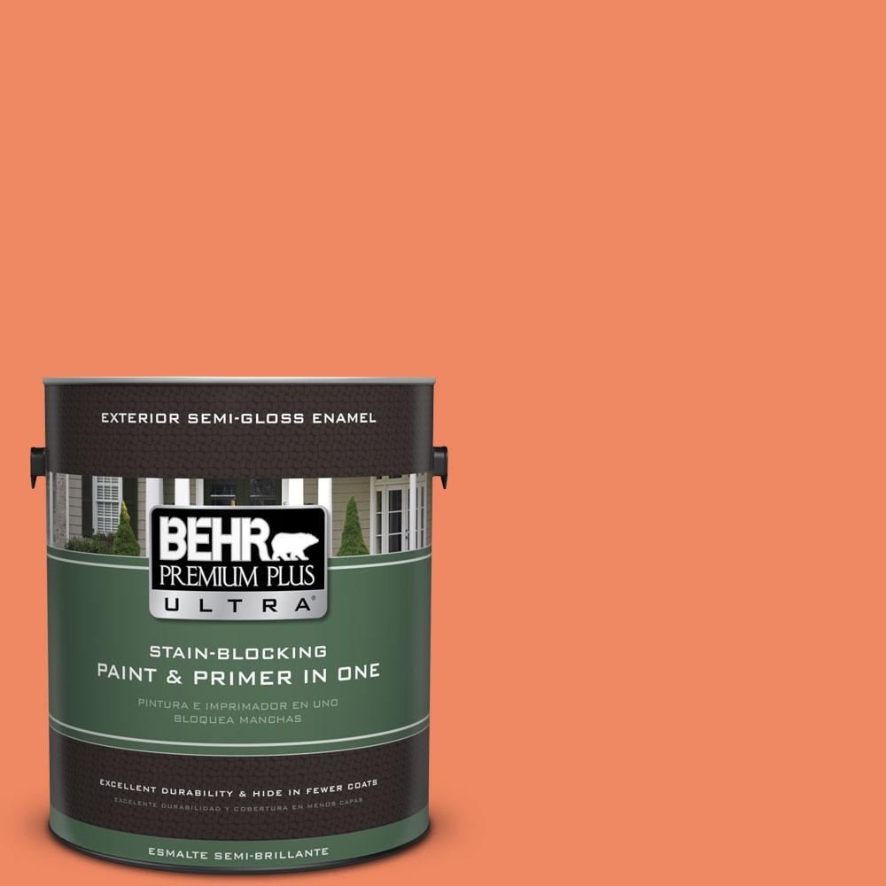 BEHR Premium Plus Ultra 1-gal. #P190-5 Orioles Semi-Gloss Enamel Exterior Paint