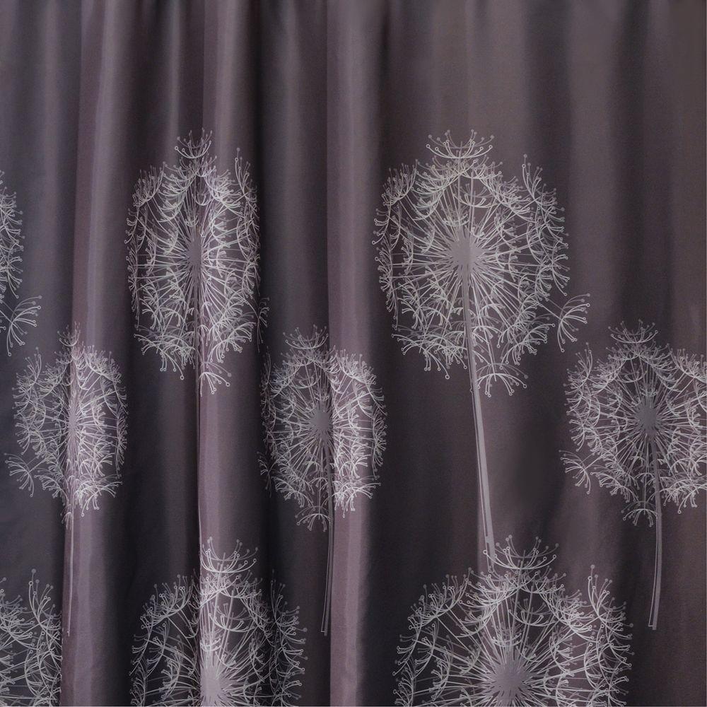 interDesign Dandelion 72 inch x 72 inch Shower Curtain in Cocoa by interDesign