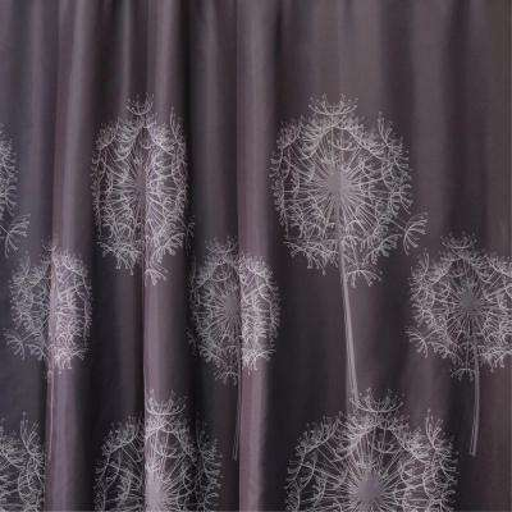 Dandelion 72 in. x 72 in. Shower Curtain in Cocoa