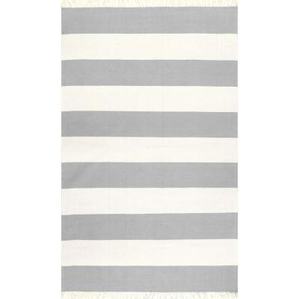 Ashlee Striped Coastal Gray 8 ft. x 10 ft. Area Rug