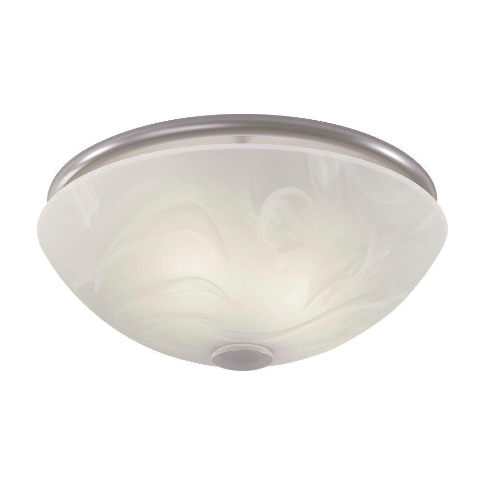 Decorative Bathroom Ceiling Lights : Nutone decorative brushed nickel cfm ceiling bathroom