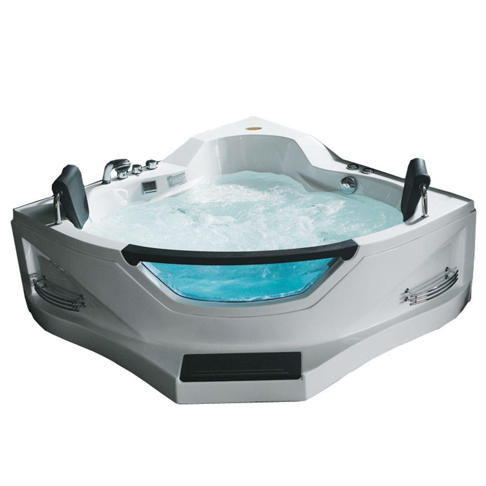 KOHLER ProFlex 4-1/2 ft. Whirlpool Tub with Center Drain in Biscuit ...