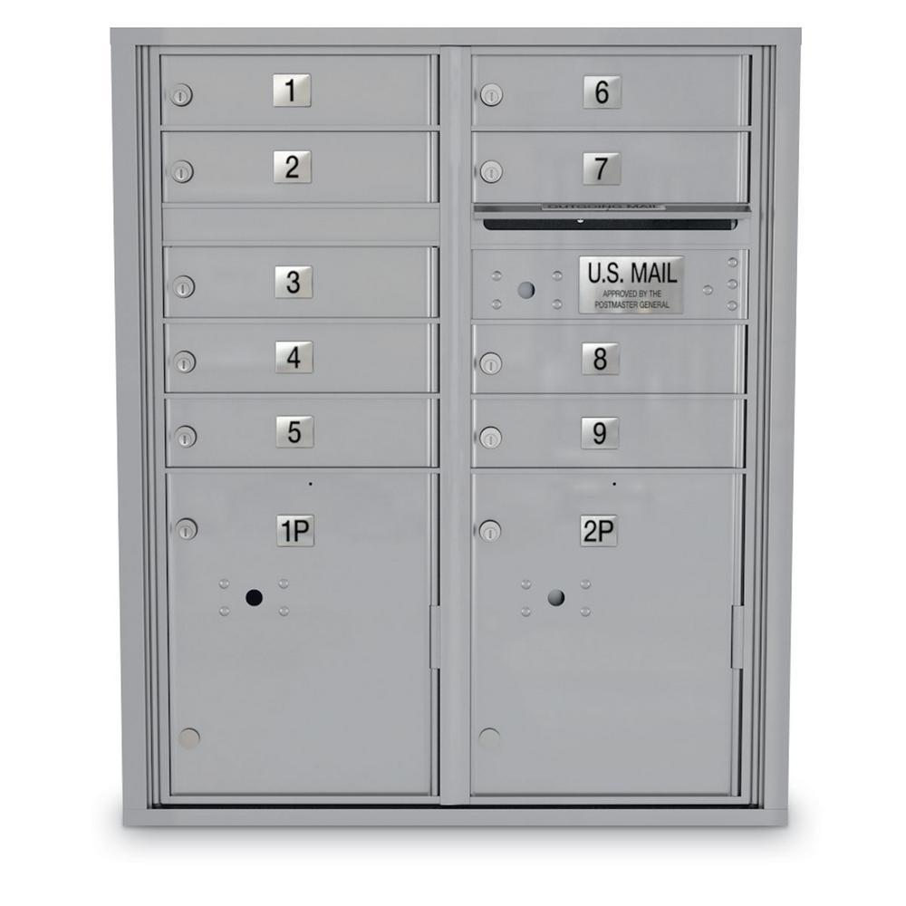 4C Standard Mailbox - 9 Door 2 Parcel Lockers