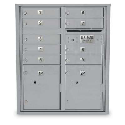 4C Standard Mailbox - 9 Door 2 Parcel Lockers