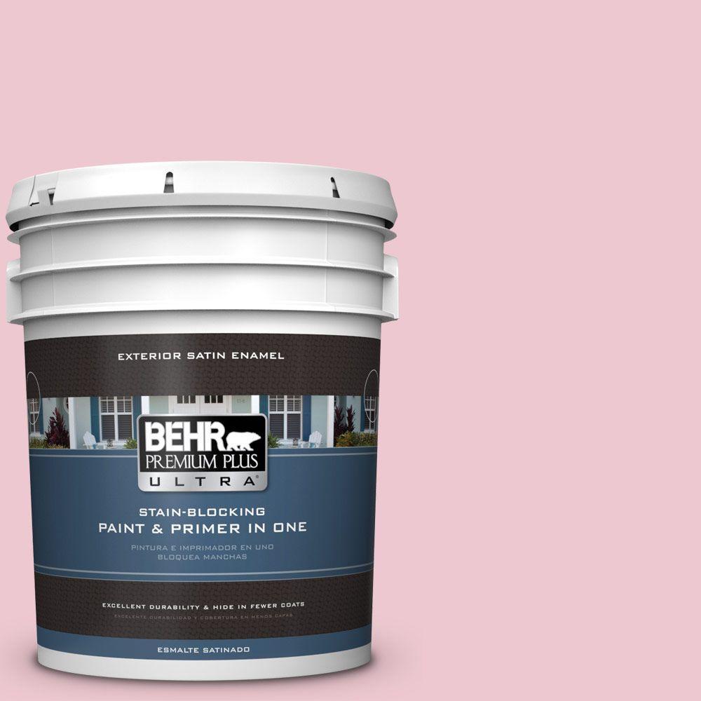 BEHR Premium Plus Ultra 5-gal. #M140-2 Funny Face Satin Enamel Exterior Paint