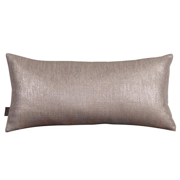 Glam Gray Pewter Solid Polyester 5 in. x 22 in. Throw Pillow