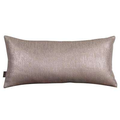 Glam Gray Pewter Kidney Decorative Pillow