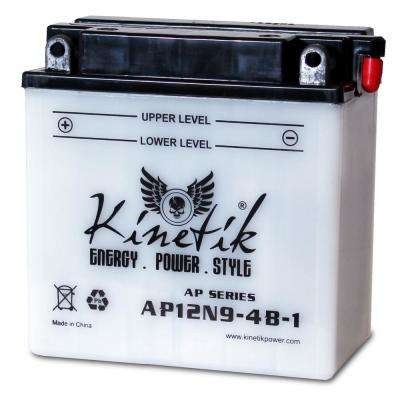 Conventional Wet Pack 12-Volt 9 Ah Capacity F Terminal Battery