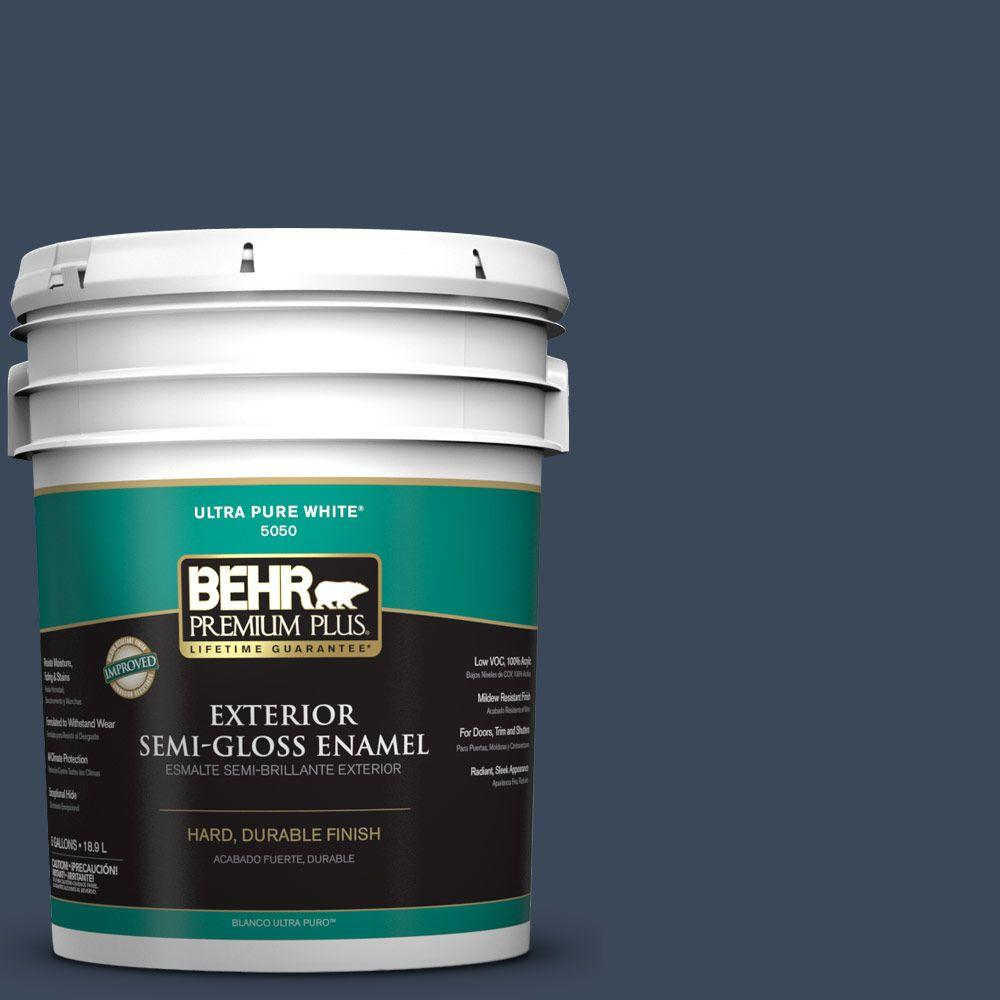5-gal. #M500-7 Very Navy Semi-Gloss Enamel Exterior Paint