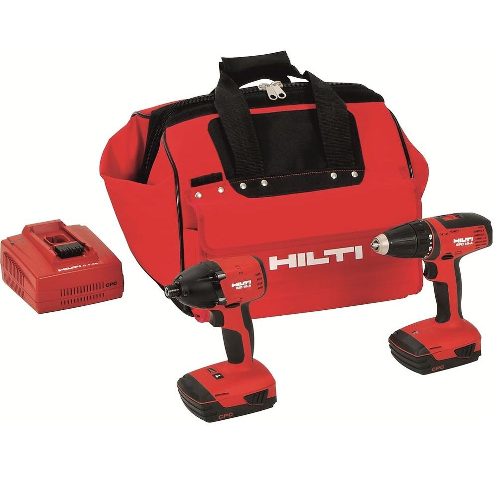Hilti 18-Volt Lithium-Ion Cordless Drill Driver/Impact Driver Compact Combo Kit (2-Tool)