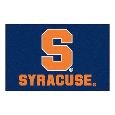 NCAA Syracuse University Red 2 ft. x 3 ft. Indoor Area Rug