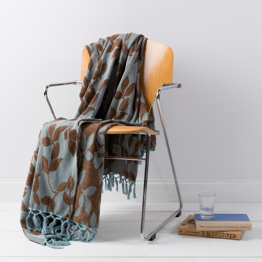 Annabelle Sky Blue Cotton Throw