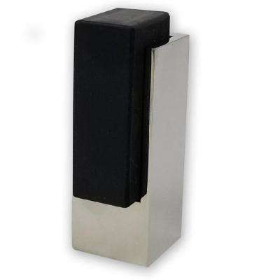 Tall Rectangular Square Polished Stainless Steel Floor Mounted Stop for Doors (5-Pack)