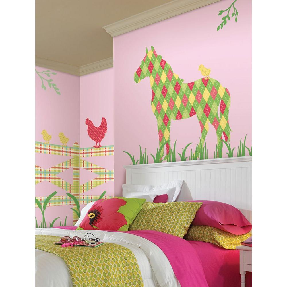 ZooWallogy 37 in. x 25 in. Addison the Horse Wall Decal