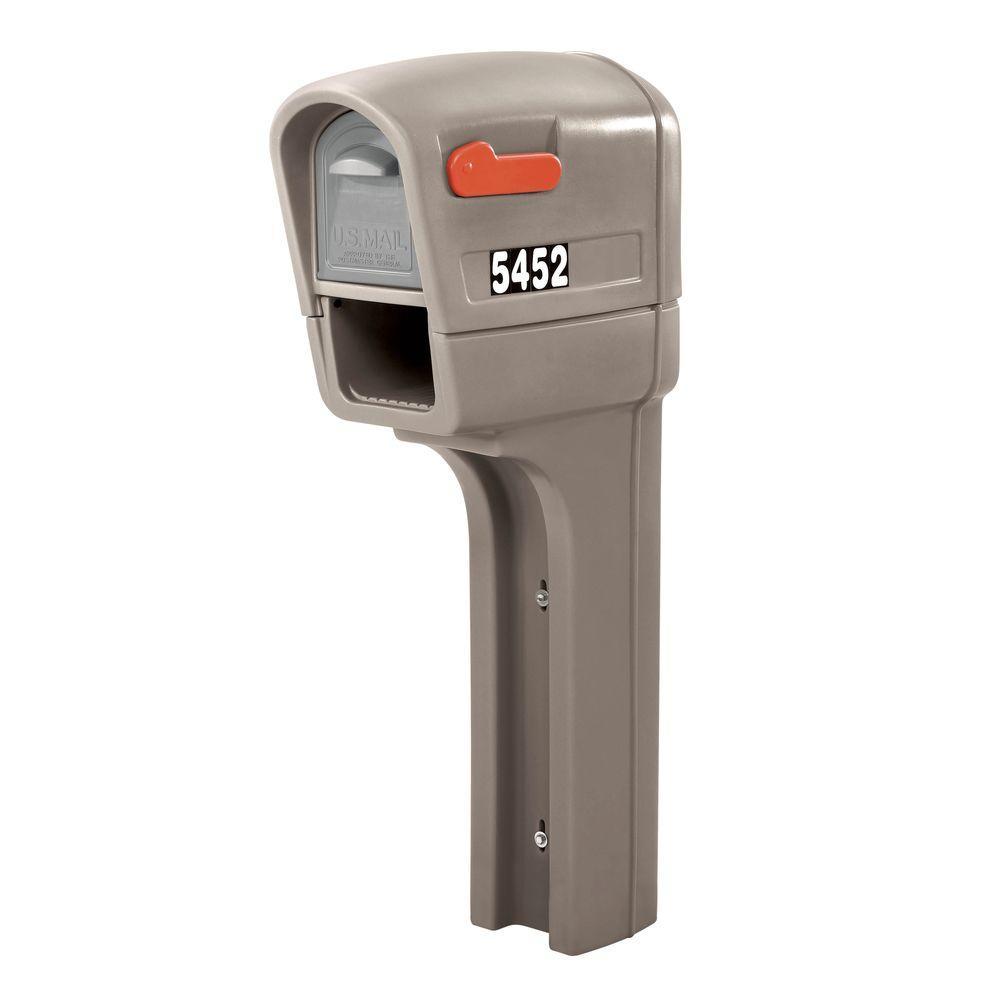 Stone Gray MailMaster Plus Mailbox