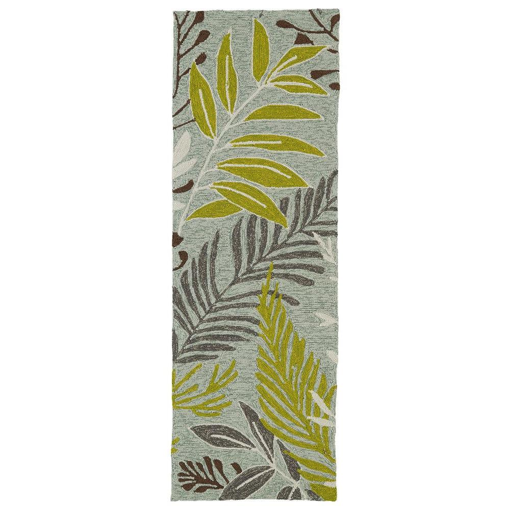 Kaleen Home and Porch Wasabi 2 ft. x 6 ft. Indoor/Outdoor Runner