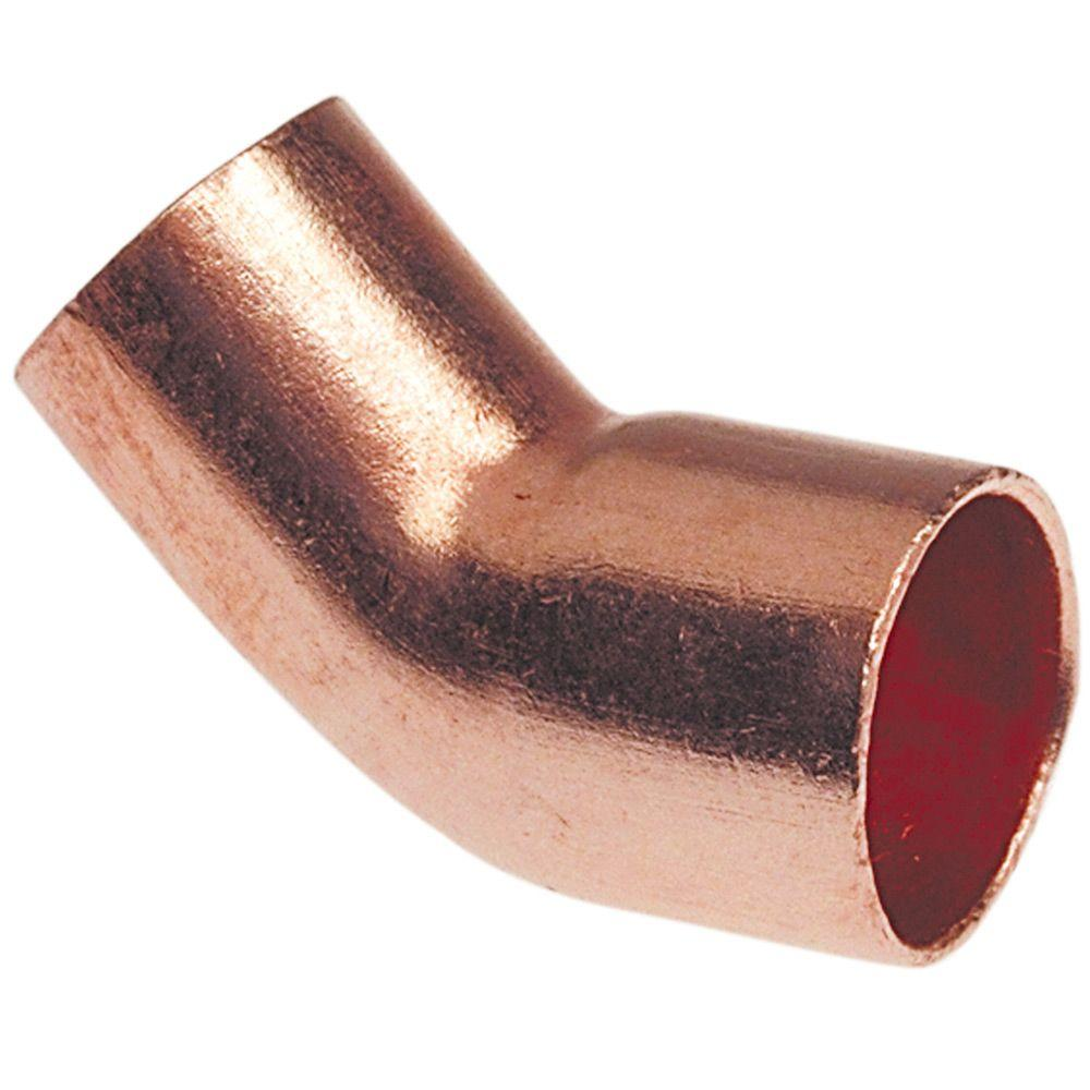Nibco 1-1/2 in. Copper 45-Degree FTG x Cup Street Elbow