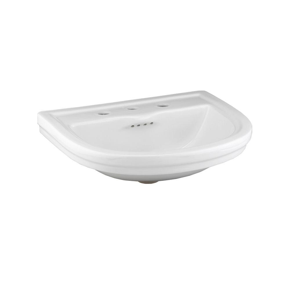 Porcher Calla II 23-3/4 in. Vanity Top with Basin in White-DISCONTINUED