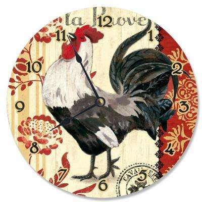 """French Kitchen Rooster"" by Geoff Allen Wall Clock"