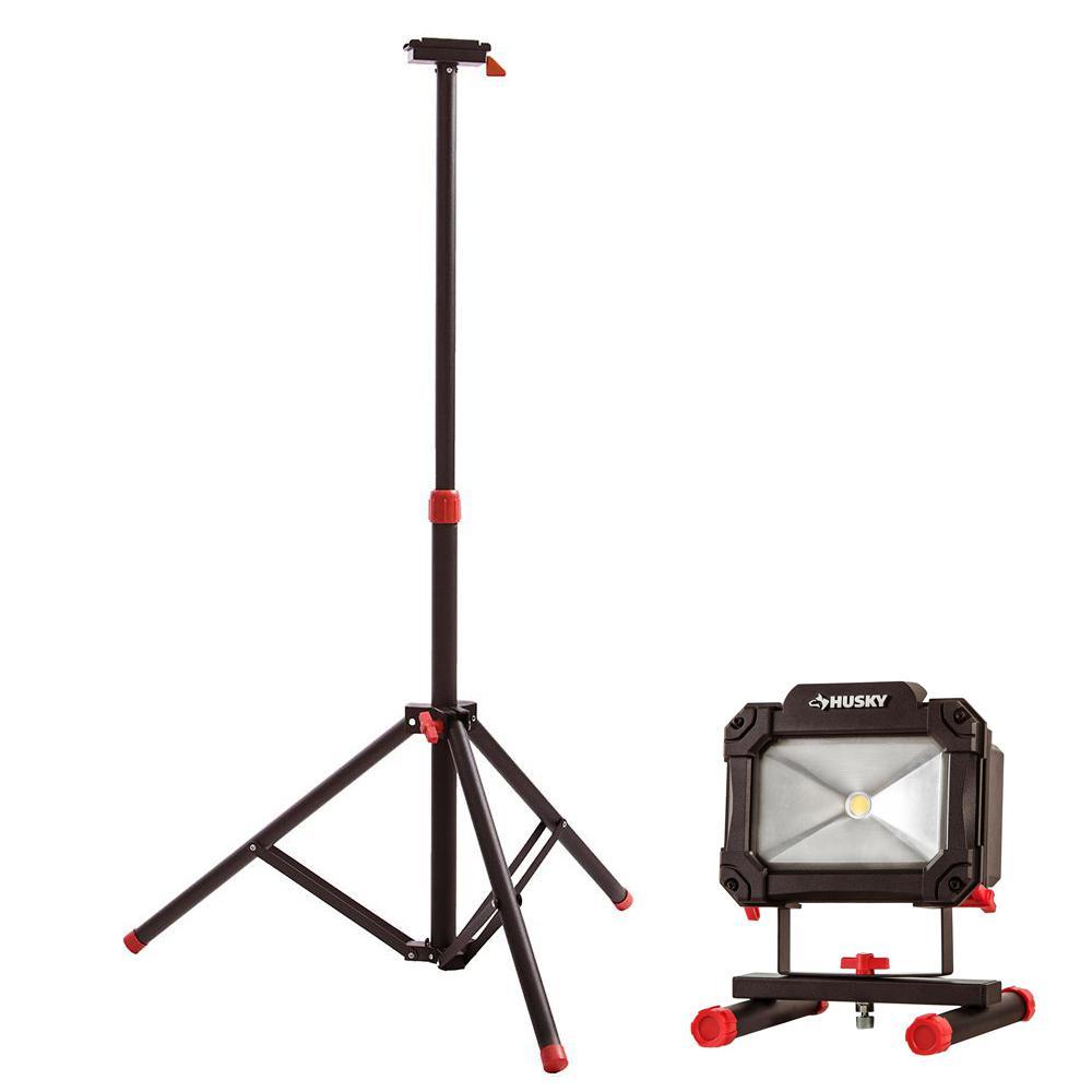 Husky Tripod For Portable Led Work Light And 1500 Lumens