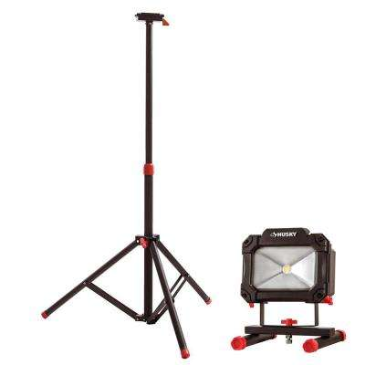 Tripod for Portable LED Work Light and 1500 Lumens Rechargeable LED Work Light