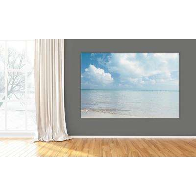 "48 in. x 72 in. ""Pastel Sea"" by Brookview Studio Printed Framed Canvas Wall Art"