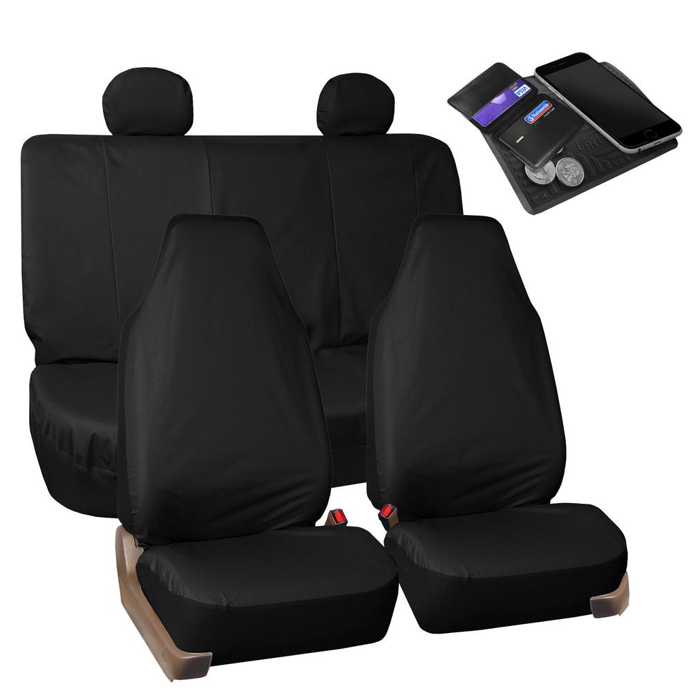 FH Group Waterproof Oxford 47 in x 23 in. x 1 in. Rugged Full Set Seat Covers