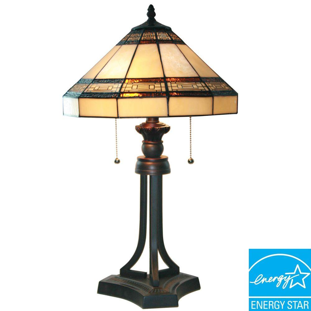 Oil Rubbed Bronze Table Lamp with CFL Bulbs - Bronze - Table Lamps - Lamps - The Home Depot