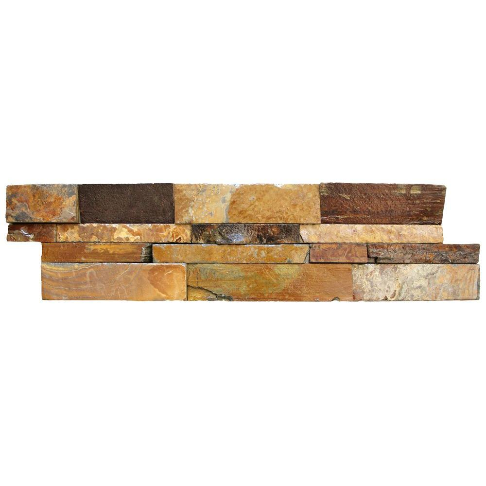 Exceptional MSI California Gold Ledger Panel 6 In. X 24 In. Natural Slate Wall Tile