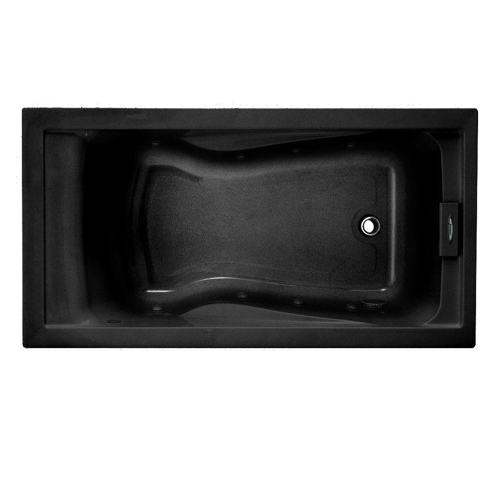 American Standard EverClean 5 ft. Whirlpool Tub in Black