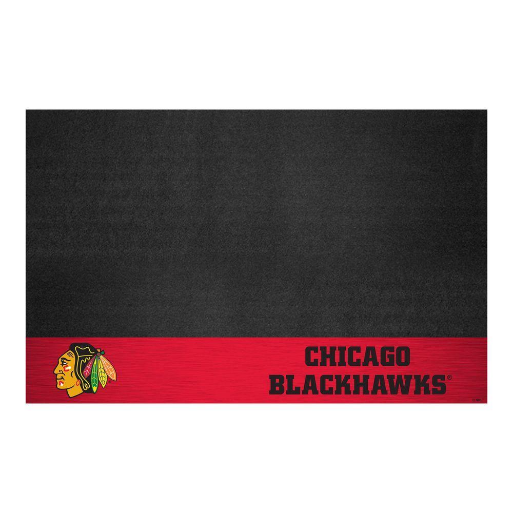 Chicago Blackhawks 26 in. x 42 in. Grill Mat