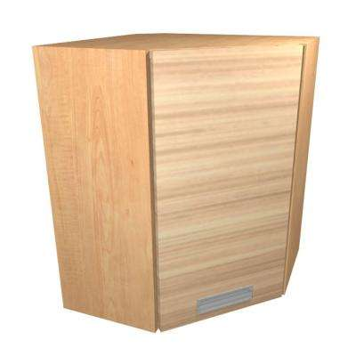 Genoa Ready to Assemble 24 x 38 x 12 in. Angle Corner Wall Cabinet with 1 Soft Close Door in Beach