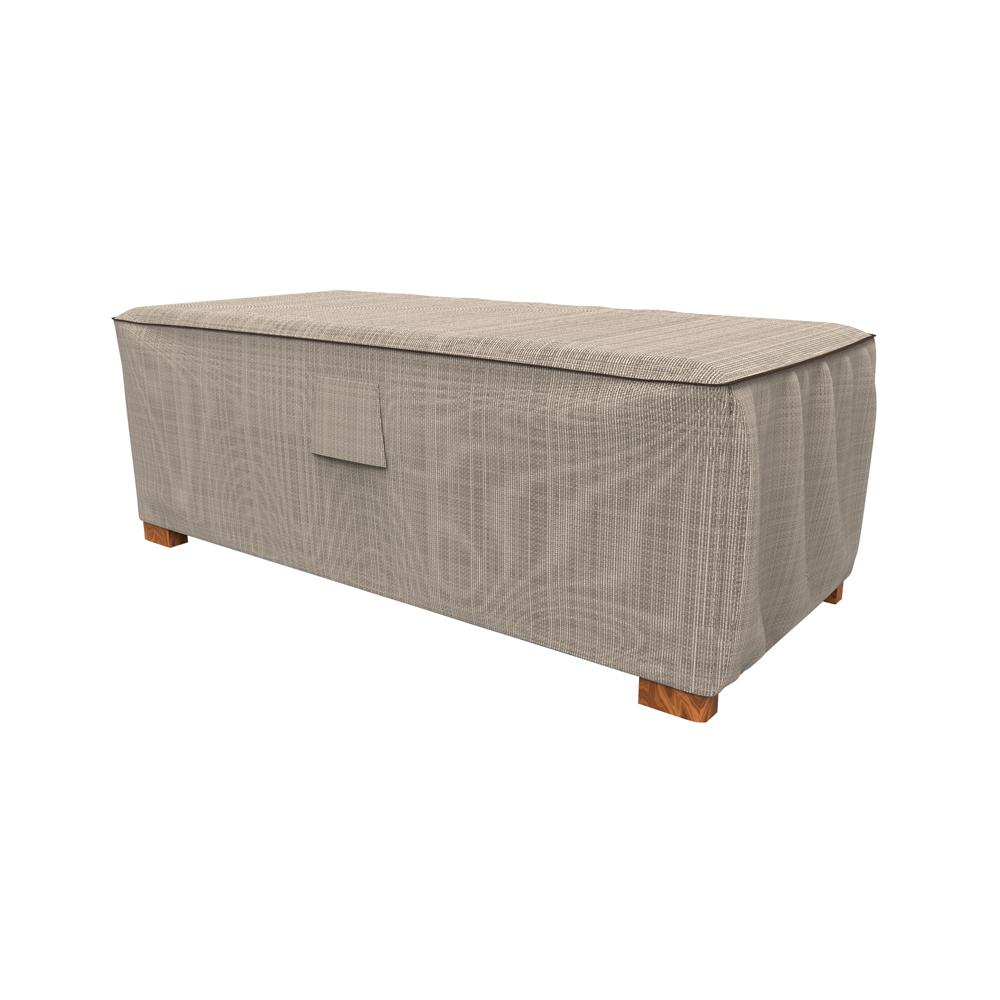 brand new 2187a 3f1ac Budge NeverWet and Reg Mojave Large Black Ivory Slim Patio Ottoman Cover