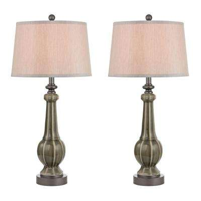 Sailsbury 31 in. Georgia Grey Glaze Table Lamps (Set of 2)