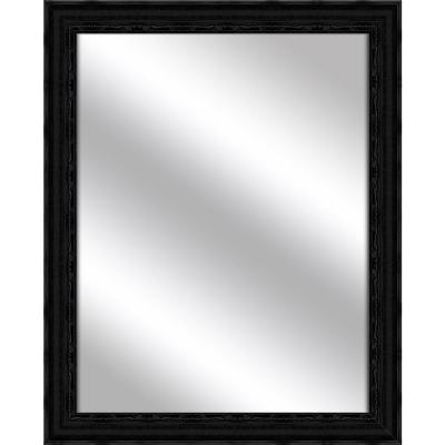 Medium Rectangle Black Art Deco Mirror (31.75 in. H x 25.75 in. W)