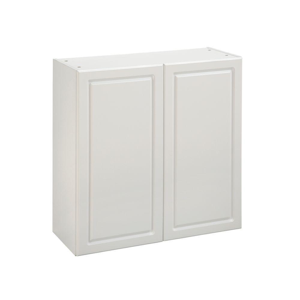 Heartland Cabinetry Heartland Ready to Assemble 30x29.8x12.5 in. Wall Cabinet with Double Doors in White