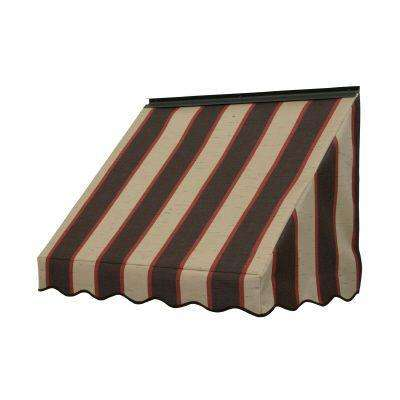 3 ft. 3700 Series Fabric Window Awning (23 in. H x 18 in. D) in Bisque Brown