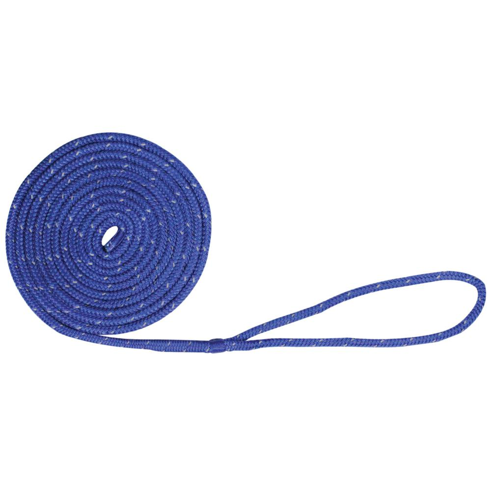 "Made in USA 1//2/"" x 40/' Solid Braid Nylon Dock Lines Royal Blue"